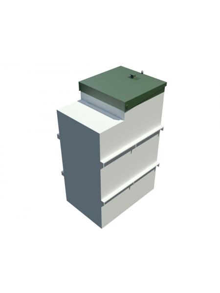 Контактный резервуар КР-1 (с одним насосом дозатора)