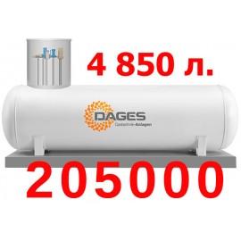 Акция на газгольдеры Dages 4850л