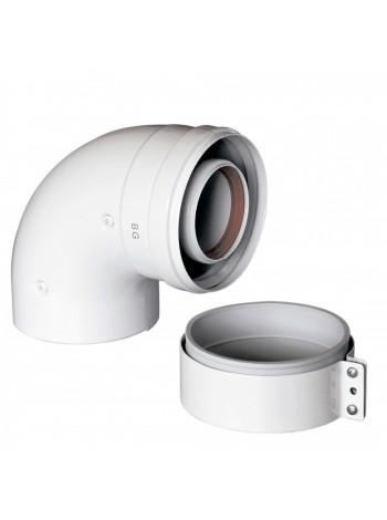 Отвод коаксиальный Ду 60/100 45 градусов для котлов Main и Eco 3